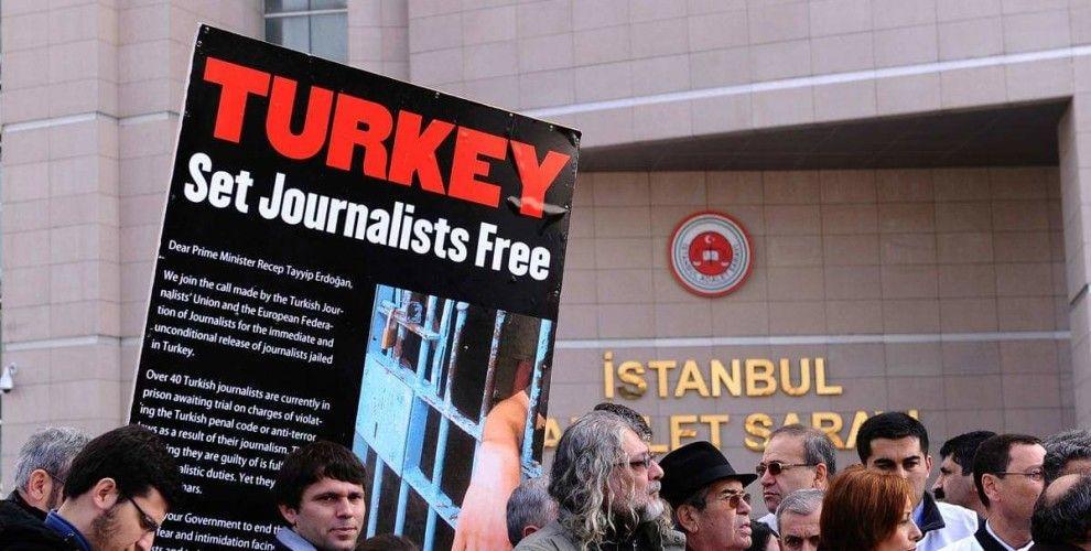 الصحفيين فى تركيا