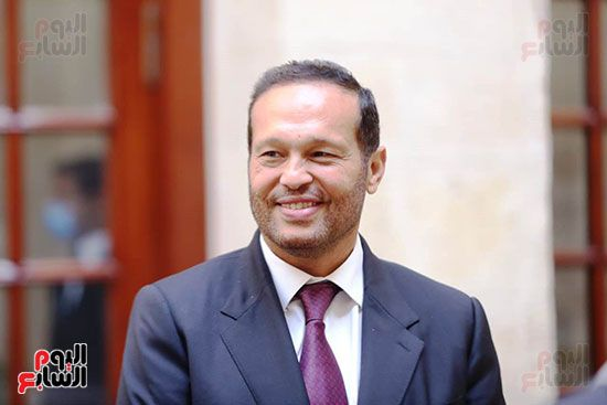 وصول محمد حلاوة عضو مجلس الشيوخ (4)