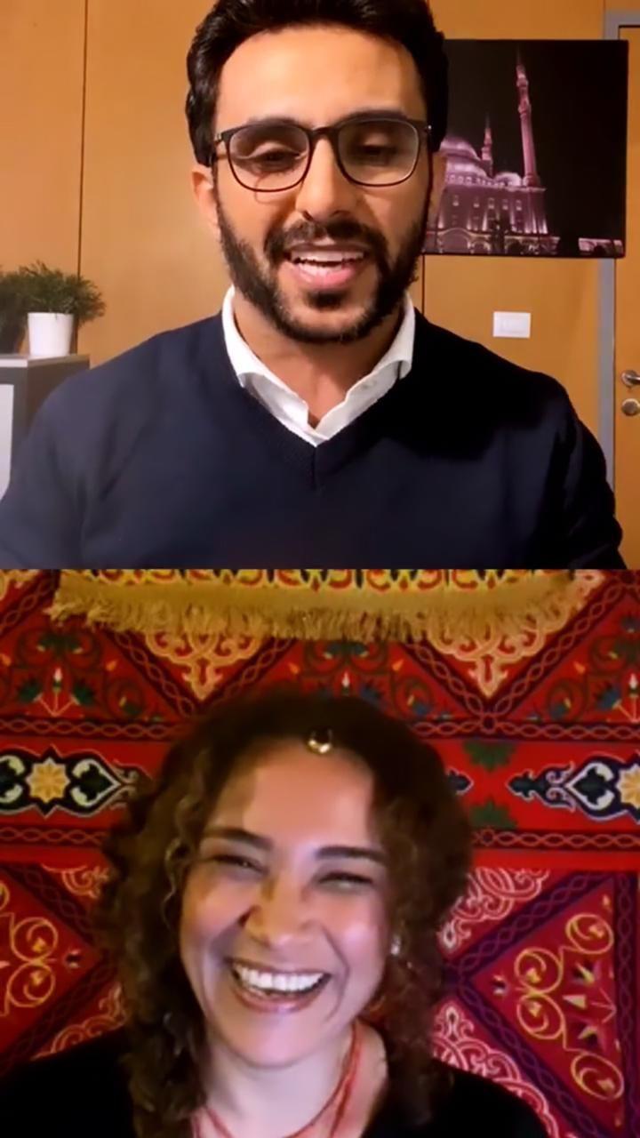 الفنانة التونسية غالية بنعلي والزميل محمد أسعد  (2)