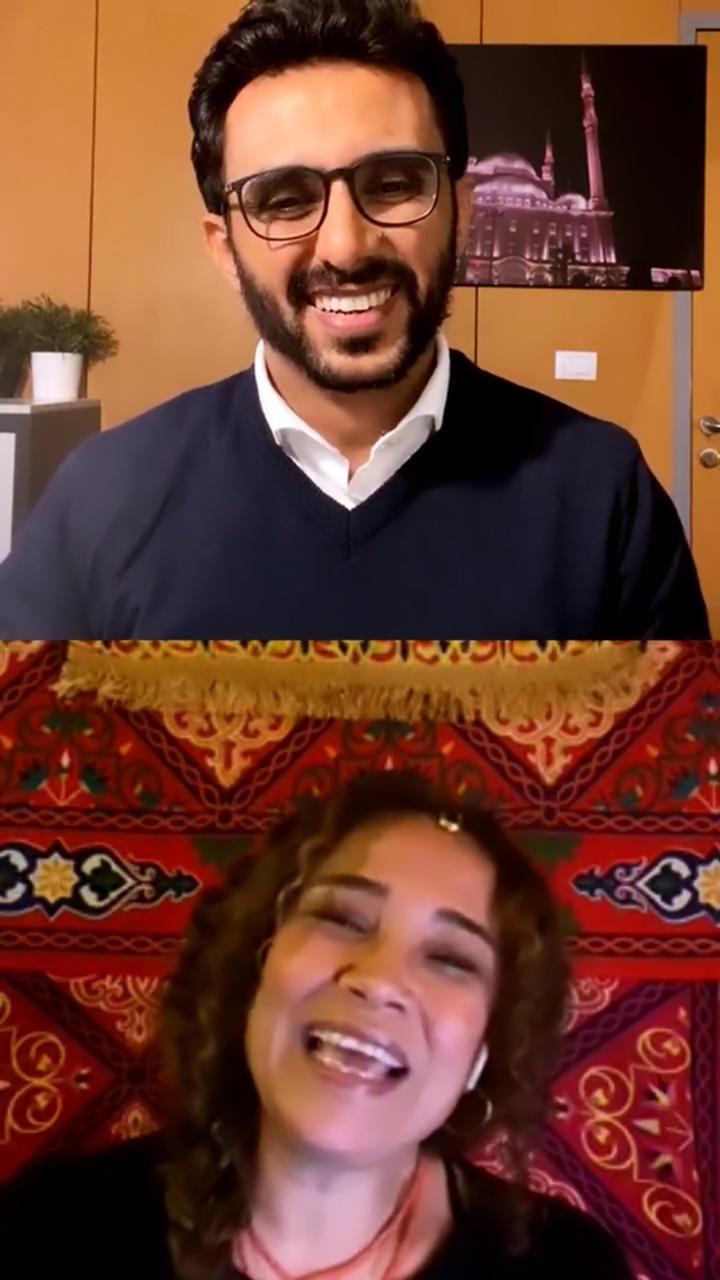 الفنانة التونسية غالية بنعلي والزميل محمد أسعد  (6)