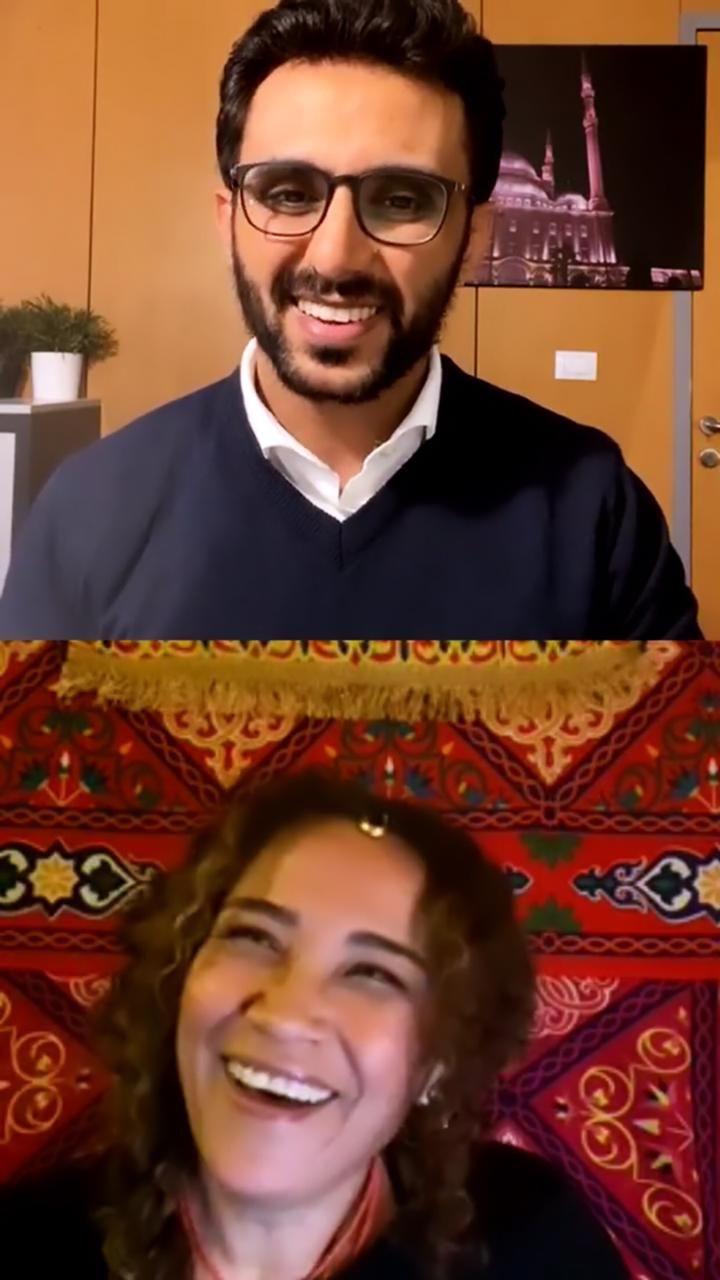 الفنانة التونسية غالية بنعلي والزميل محمد أسعد  (4)