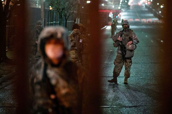 الحرس الوطني يتأهب لحفل تنصيب بايدن