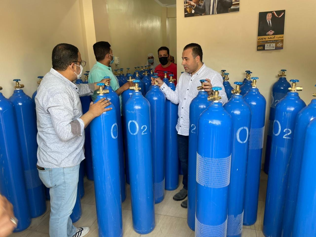 النائب أحمد بدوى يطلق مبادرة لتوفير أنابيب الأكسجين للمواطنين