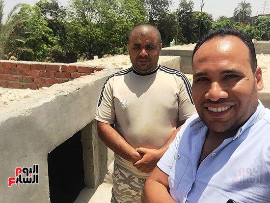 محمد الشرقاوى منقذ طفلة مقابر الإسماعيلية والزميل السيد فلاح