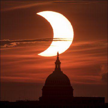كسوف الشمس فى واشنطن