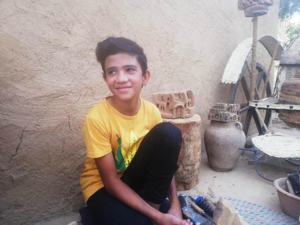 محمد شريف سعيد بموهبته الفطرية