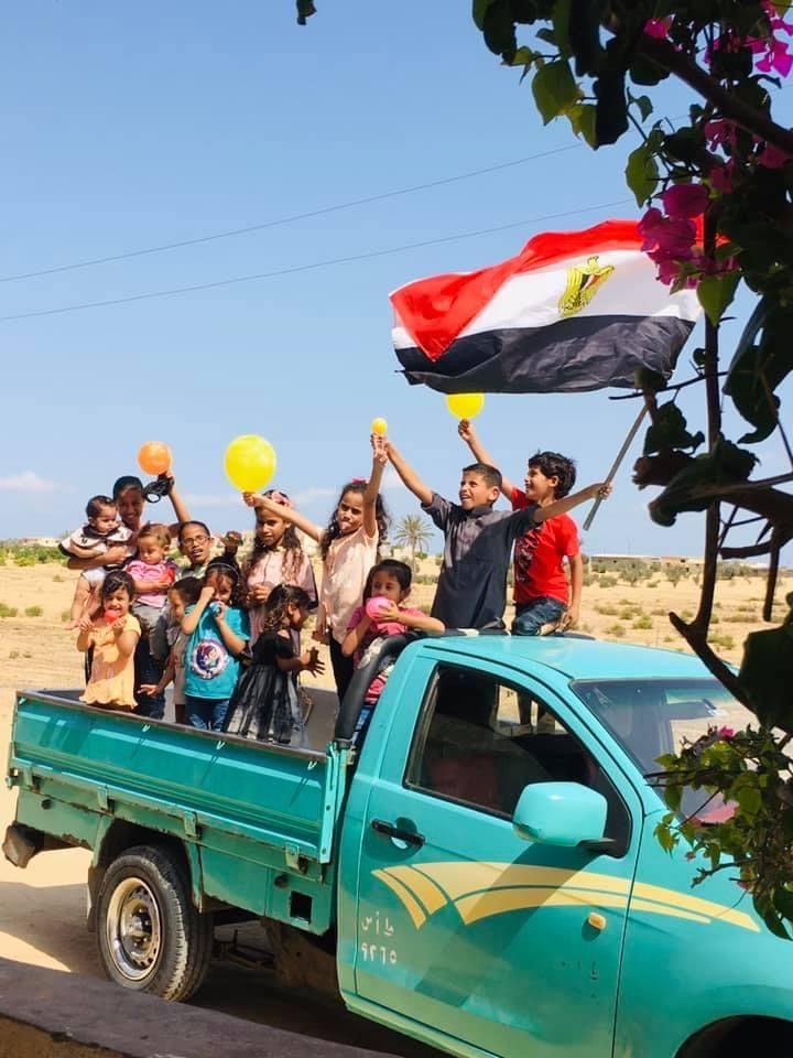 اطفال قرية الظهير وفرحة العيد
