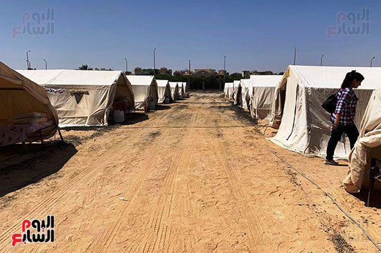 مخيمات الايواء بتجربة الطوارئ