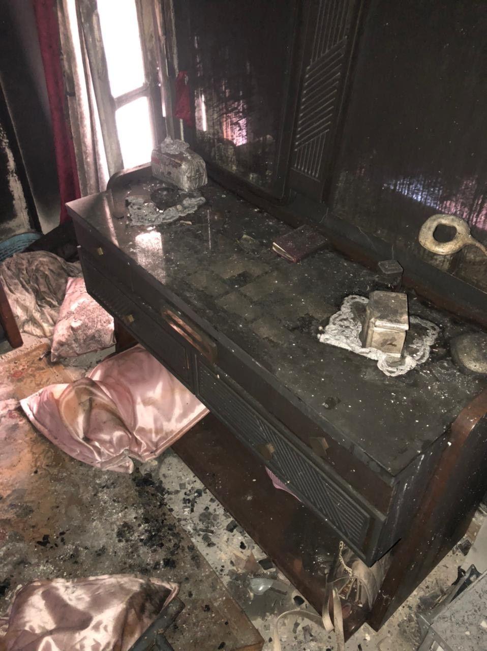 الحريق التهم جميع محتويات الشقة