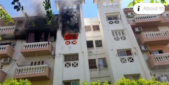 حريق في شقة عروسين بالغردقة