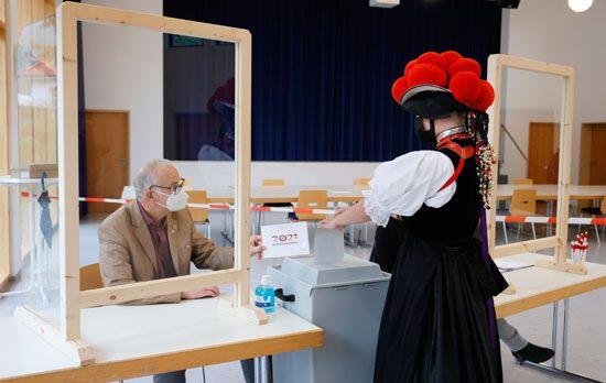 التصويت للبوندستاغ الألماني في جوتاش