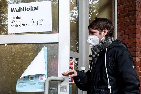 تصويت  الألمان في الانتخابات العامة