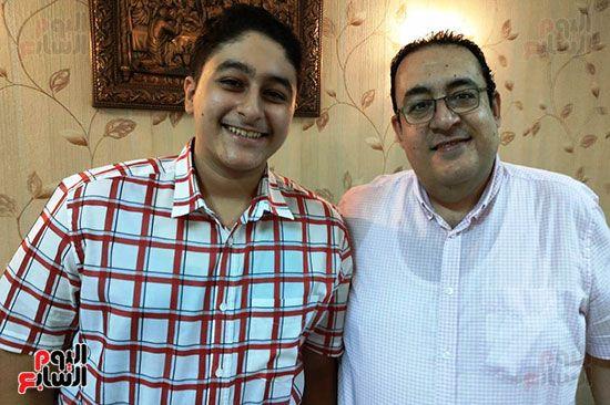 بيشوى-ممدوح-ووالده-خلال-لقاء-اليوم-السابع