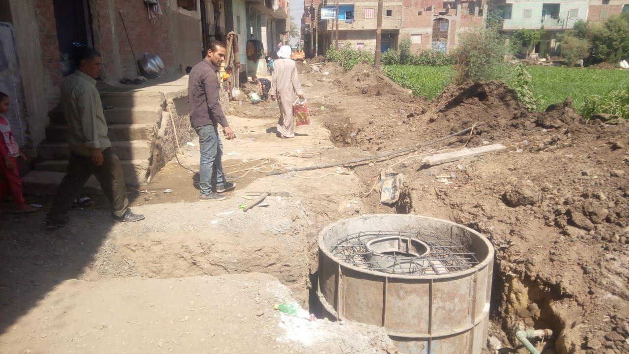 توصيل الصرف الصحى للمنازل