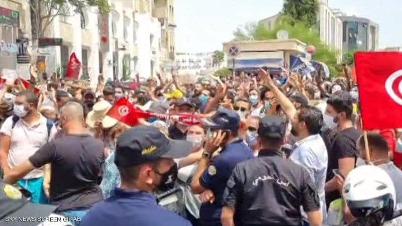 احتجاجات ضد الاخوان