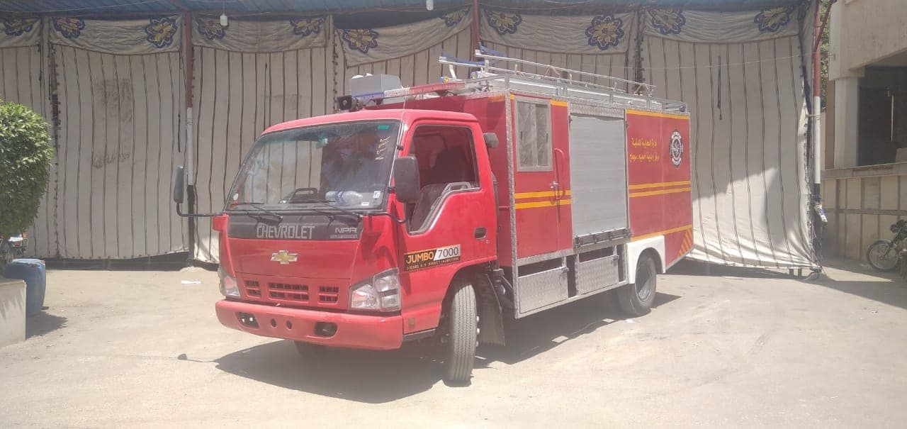 تدعيم الحماية المدنية بسيارات إطفاء